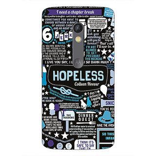1 Crazy Designer TFIOS HOPELESS  Back Cover Case For Moto X Play C660108