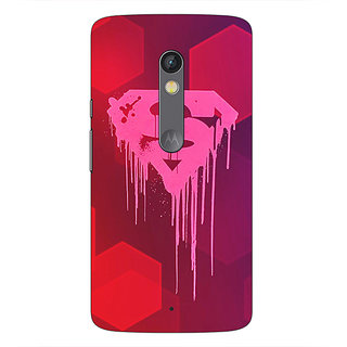 1 Crazy Designer Superheroes Superman Back Cover Case For Moto X Play C660380