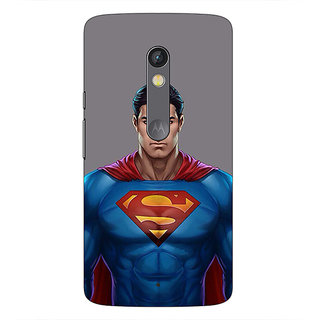 1 Crazy Designer Superheroes Superman Back Cover Case For Moto X Play C660382
