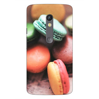 1 Crazy Designer Macaroons Back Cover Case For Moto X Play C660685