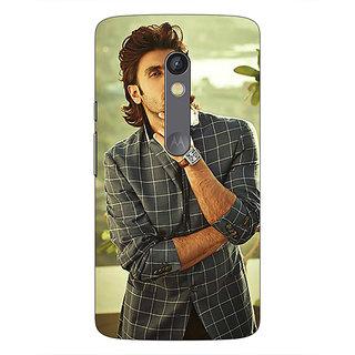 1 Crazy Designer Bollywood Superstar Ranveer Singh Back Cover Case For Moto X Play C660939