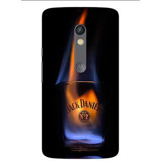 1 Crazy Designer Jack Daniels JD Whisky Flaming Back Cover Case For Moto X Play C661212