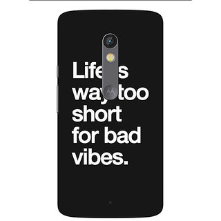1 Crazy Designer Quote Back Cover Case For Moto X Play C661477