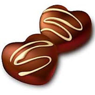 Dark Chocolate hearts slow churned with white topping-250 gm