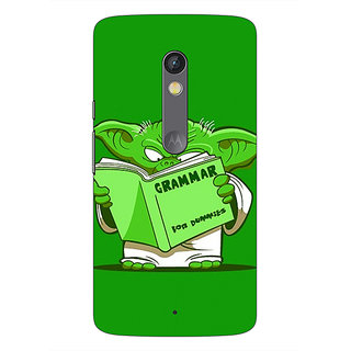 1 Crazy Designer Grammar Yoda Back Cover Case For Moto X Play C660812