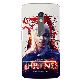 1 Crazy Designer Game Of Thrones GOT Khaleesi Daenerys Targaryen Back Cover Case For Moto X Play C661539