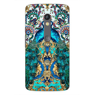 1 Crazy Designer Paisley Beautiful Peacock Back Cover Case For Moto X Play C661593