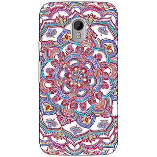 1 Crazy Designer Flower Circles Pattern Back Cover Case For Moto G3 C670230