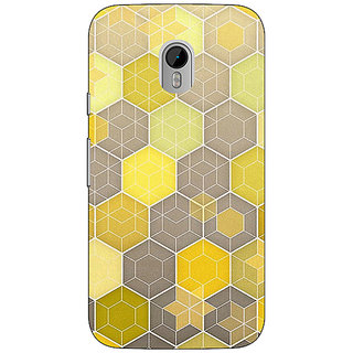 1 Crazy Designer Yellow Hexagons Pattern Back Cover Case For Moto G3 C670273
