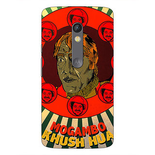 1 Crazy Designer Bollywood Superstar Mr. India Mogambo Back Cover Case For Moto X Play C661108