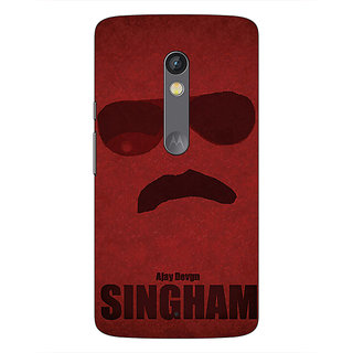 1 Crazy Designer Bollywood Superstar Singham Back Cover Case For Moto X Play C661126