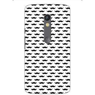 1 Crazy Designer Moustache Back Cover Case For Moto X Play C661448