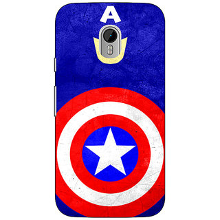 1 Crazy Designer Superheroes Captain America Back Cover Case For Moto G3 C670331