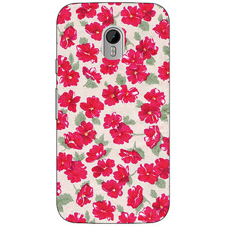 1 Crazy Designer Floral Pattern  Back Cover Case For Moto G3 C670660