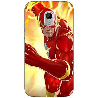 1 Crazy Designer Superheroes Flash Back Cover Case For Moto G3 C670855