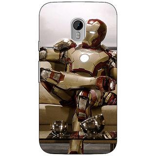 1 Crazy Designer Superheroes Ironman Back Cover Case For Moto G3 C670863