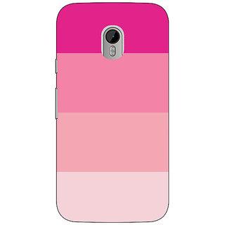 1 Crazy Designer Pink Stripes Back Cover Case For Moto G3 C671147