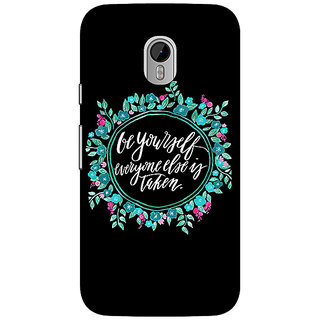 1 Crazy Designer Quotes Be yourself Back Cover Case For Moto G3 C671151