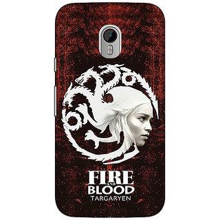 1 Crazy Designer Game Of Thrones GOT House Targaryen  Back Cover Case For Moto G3 C670150