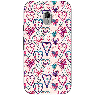 1 Crazy Designer Hearts Back Cover Case For Moto G3 C670710