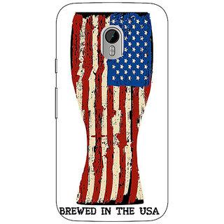 1 Crazy Designer USA Beer Back Cover Case For Moto G3 C671213
