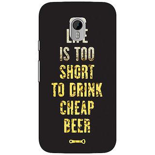 1 Crazy Designer Beer Quote Back Cover Case For Moto G3 C671217