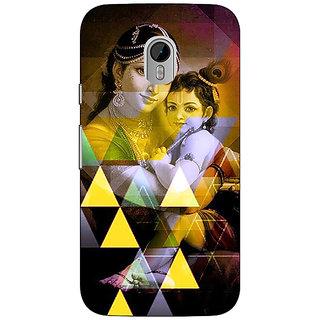 1 Crazy Designer Lord Krishna Back Cover Case For Moto G3 C671281
