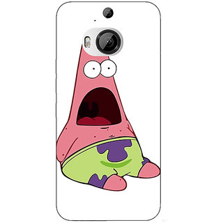 1 Crazy Designer Spongebob Patrick Back Cover Case For HTC M9 Plus C680475