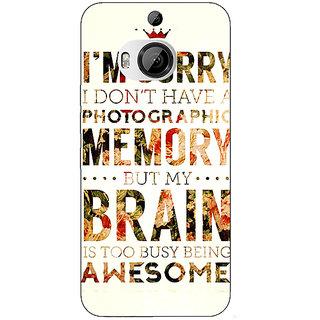 1 Crazy Designer SUITS Quotes Back Cover Case For HTC M9 Plus C680481