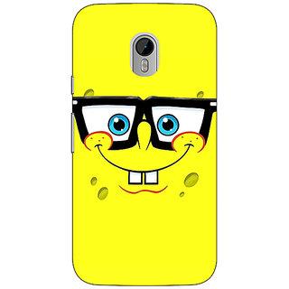 1 Crazy Designer Spongebob Back Cover Case For Moto G3 C670459