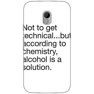 1 Crazy Designer Alcohol Quote Back Cover Case For Moto G3 C671310