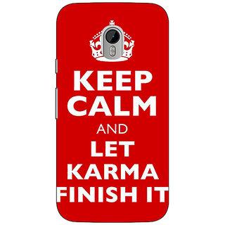 1 Crazy Designer Karma Quote Back Cover Case For Moto G3 C671321