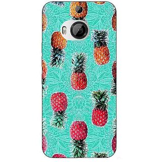 1 Crazy Designer Pineapple Pattern Back Cover Case For HTC M9 Plus C680246
