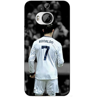 1 Crazy Designer Cristiano Ronaldo Real Madrid Back Cover Case For HTC M9 Plus C680315