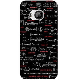 1 Crazy Designer Super Maths Back Cover Case For HTC M9 Plus C680807
