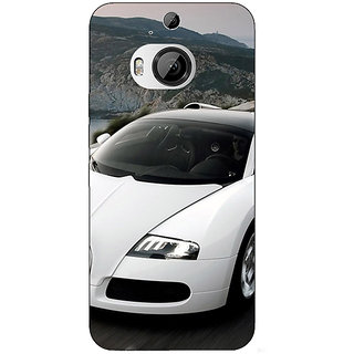 1 Crazy Designer Super Car Bugatti Back Cover Case For HTC M9 Plus C680628