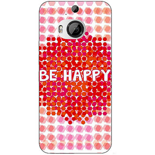 1 Crazy Designer Quotes Happy Back Cover Case For HTC M9 Plus C681154