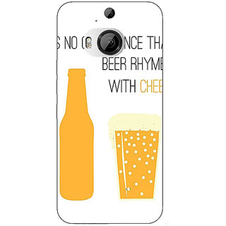 1 Crazy Designer Beer Quote Back Cover Case For HTC M9 Plus C681204