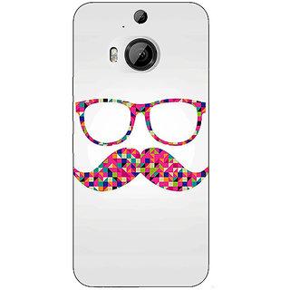1 Crazy Designer Mustache Back Cover Case For HTC M9 Plus C680751