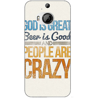 1 Crazy Designer Beer Quote Back Cover Case For HTC M9 Plus C681215