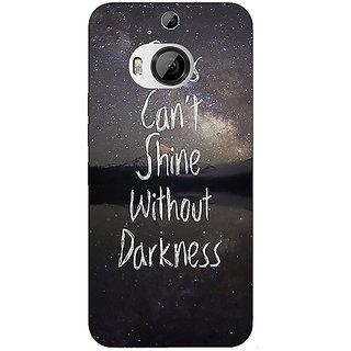 1 Crazy Designer Quote Back Cover Case For HTC M9 Plus C681478
