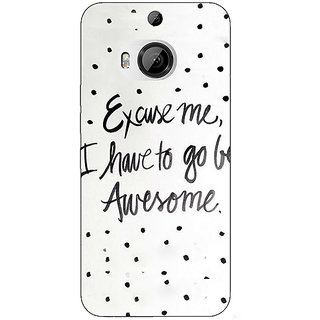 1 Crazy Designer Quote Back Cover Case For HTC M9 Plus C681351