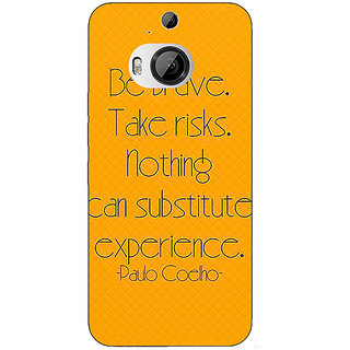 1 Crazy Designer Quote Back Cover Case For HTC M9 Plus C681354