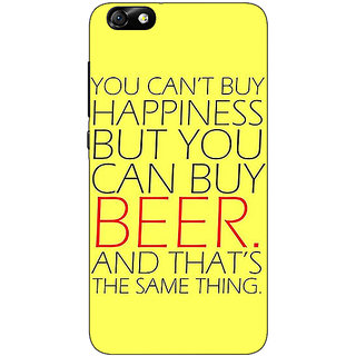 1 Crazy Designer Beer Quote Back Cover Case For Huwaei Honor 4X C691231
