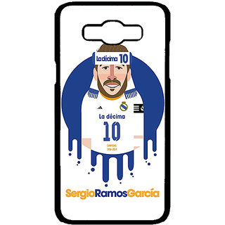 1 Crazy Designer Real Madrid Sergio Ramos Back Cover Case For Samsung Galaxy J7 C700587