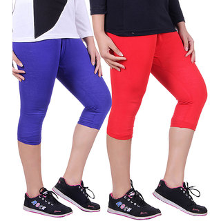 Madona Capri With Mayani - Pack of 2 (Royal Blue-Red)