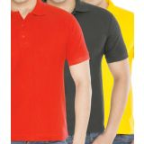 Combo Red Yellow Black Polo T-Shirt