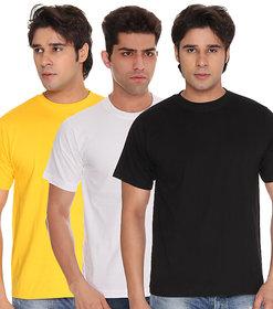 Weardo Men's Black Round Neck T-Shirt (Combo)
