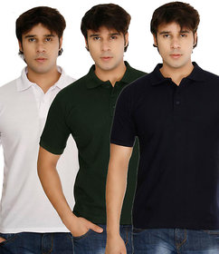Weardo Multicolor T-Shirt For Men (Pack Of 3)