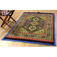Home Castle Polyester Designer Quilted Carpet (size-5 X 7 FEET )- Multicolour